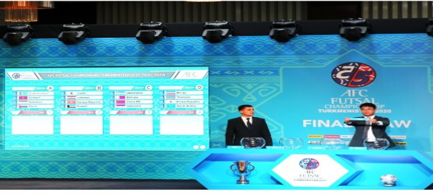 THE DRAW FOR THE 2020 ASIAN FUTSAL CHAMPIONSHIP WAS HELD IN ASHGABAT