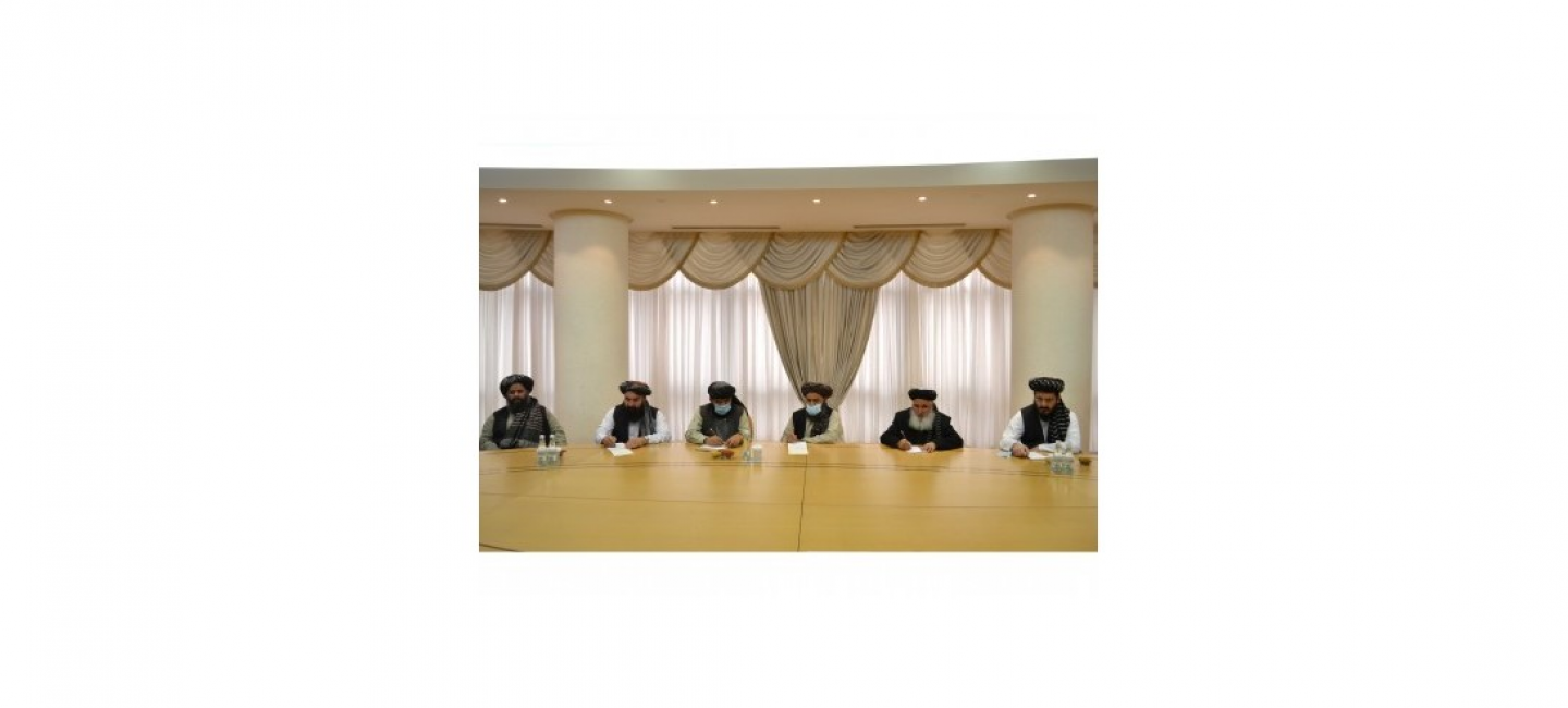 THE MEETING WITH THE DELEGATION OF POLITICAL OFFICE OF TALIBAN MOVEMENT WAS HELD AT THE MFA OF TURKMENISTAN