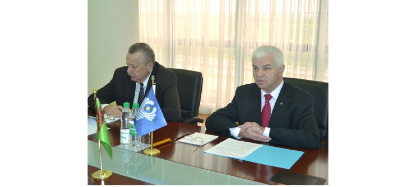 MEETING WITH THE DELEGATION OF THE CIS EXECUTIVE COMMITTEE IN THE MINISTRY OF FOREIGN AFFAIRS OF TURKMENISTAN